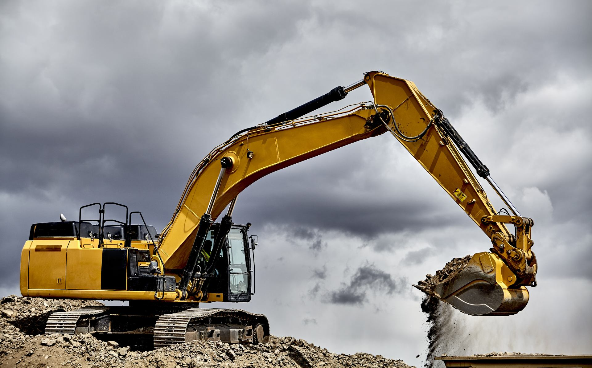 view of an excavator